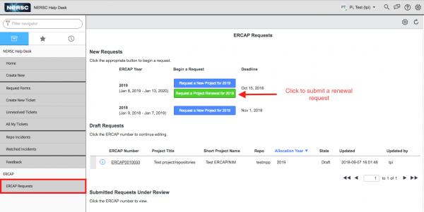 the nersc allocation request form ercap